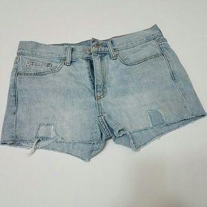26 Gap Distressed Patchwork Denim Shorts